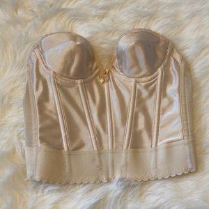 Women's White/ Tan Strapless Under Cover bra